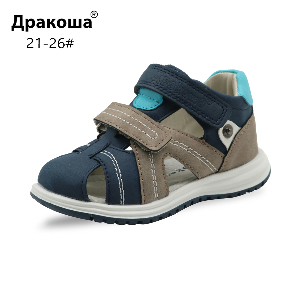 Apakowa Sandals Kids Shoes Sports-Activities Closed-Toe Baby-Boys Beach Unisex for Travel