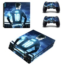 Lionel Messi PS4 Pro Skin Sticker Decal Vinyl for Playstation 4 Console and 2 Controllers