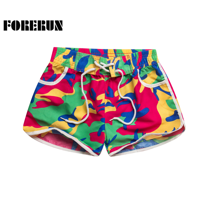 2018 New Summer Shorts Women Camouflage Printed Casual Holiday Boardshorts Quick Drying Tracksuit with Pockets
