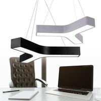 Y shaped Led Study light Lamps Modern Office black grey Led light commercial lighting Conference Room Led strip Pendant lights