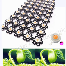 100pcs New Arrival 1W 3W full spectrum led chip  400nm~840nm with bridgelux for medical plant grow ,suit all stage pcb