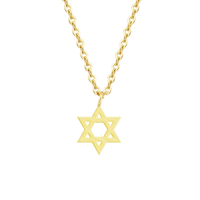 Retro ebreju rotaslietas zvaigzne Dāvida kulona kaklarota sieviešu - Modes rotaslietas - Foto 3