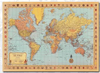 The old retro english label world map high quality school office the old retro english label world map high quality school office supply hd printing hot freeshipping gumiabroncs Image collections