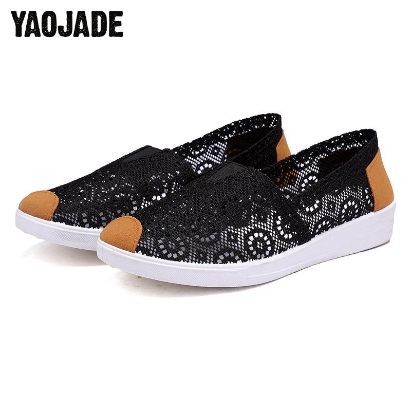 2018 New Women Flats Shoes Cut Out Hollow Out Casual Shoes Spring Summer Beige 35-41 Women Flat Bottom Feminino Women Shoes women s shoes 2017 summer new fashion footwear women s air network flat shoes breathable comfortable casual shoes jdt103