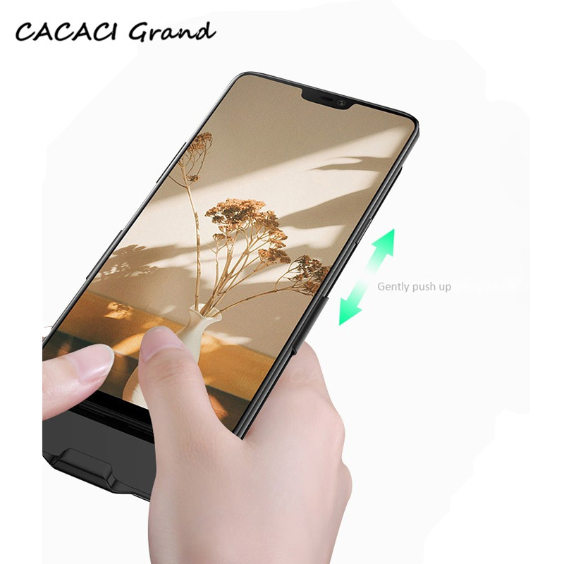 Capa Mate20 Lite 6500mAh Battery Charger Case For Huawei Mate 20 Lite Wireless External PowerBank Backup Charging Back Cover in Battery Charger Cases from Cellphones Telecommunications