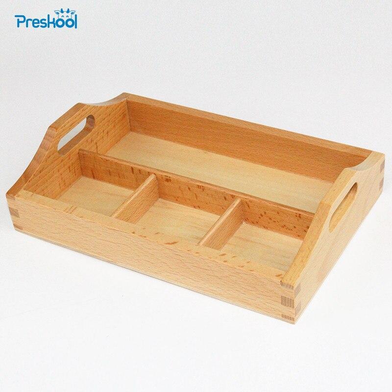 Juguete para bebés Montessori madera 3 compartimentos bandeja de clasificación Educación Temprana Preescolar Juguetes Brinquedos Juguetes