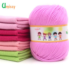 1pc Cotton Silk Knitting Yarn Soft Warm Baby Yarn for Hand Knitting Anti-Bacterial Eco-friendly Supplies 50g/pc(China)