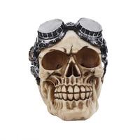 Halloween Decoration Resin Skull Statue Bloody Terror Skull Sculpture For Home Pub Decor Ornaments Statues Sculptures