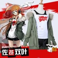 High Quality Anime Game Persona 5 Cos Futaba Sakura Navi Daily Women's Casual Wear Suit Costume Cosplay Costume