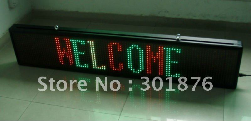 factory directly supply hhigh quality LED  moving sign with remoter