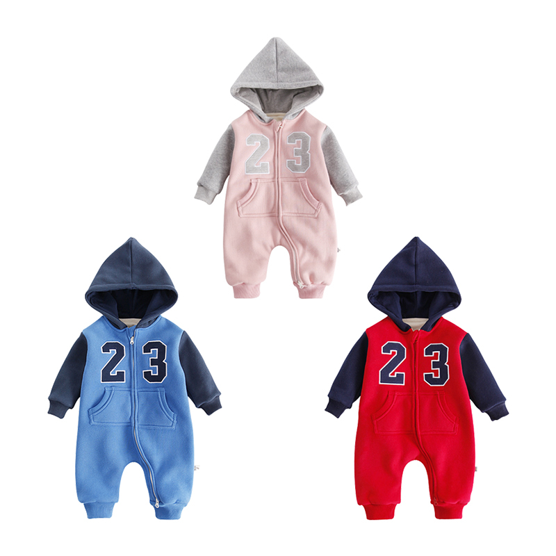 6987f1d52 Buy Baby Clothing Winter Warm Hooded Rompers Long Sleeves Infant ...