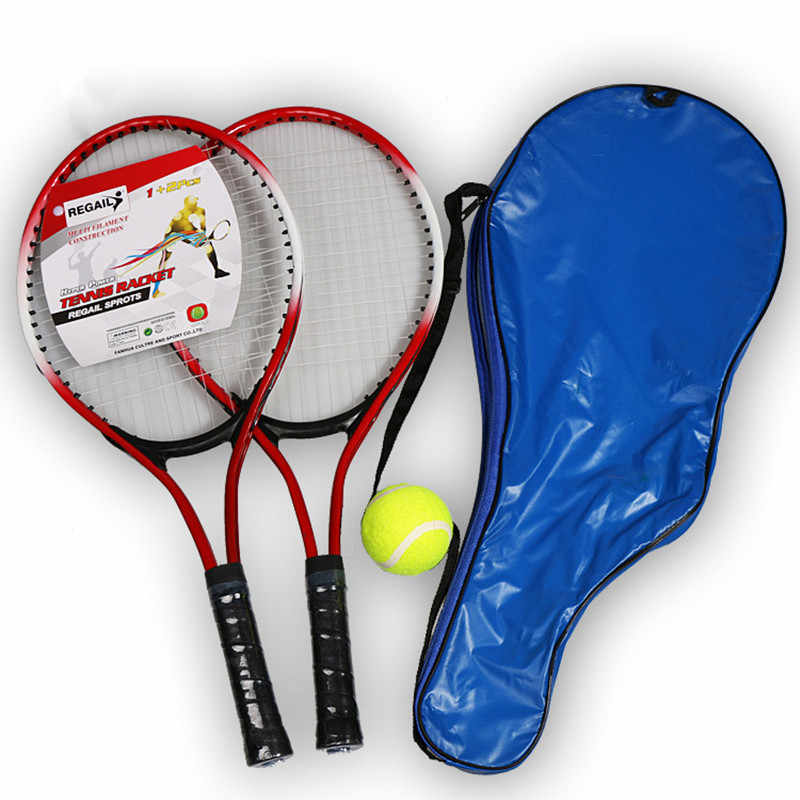 1 Pair Children's Practice Training Tennis Racket for new teenie learner