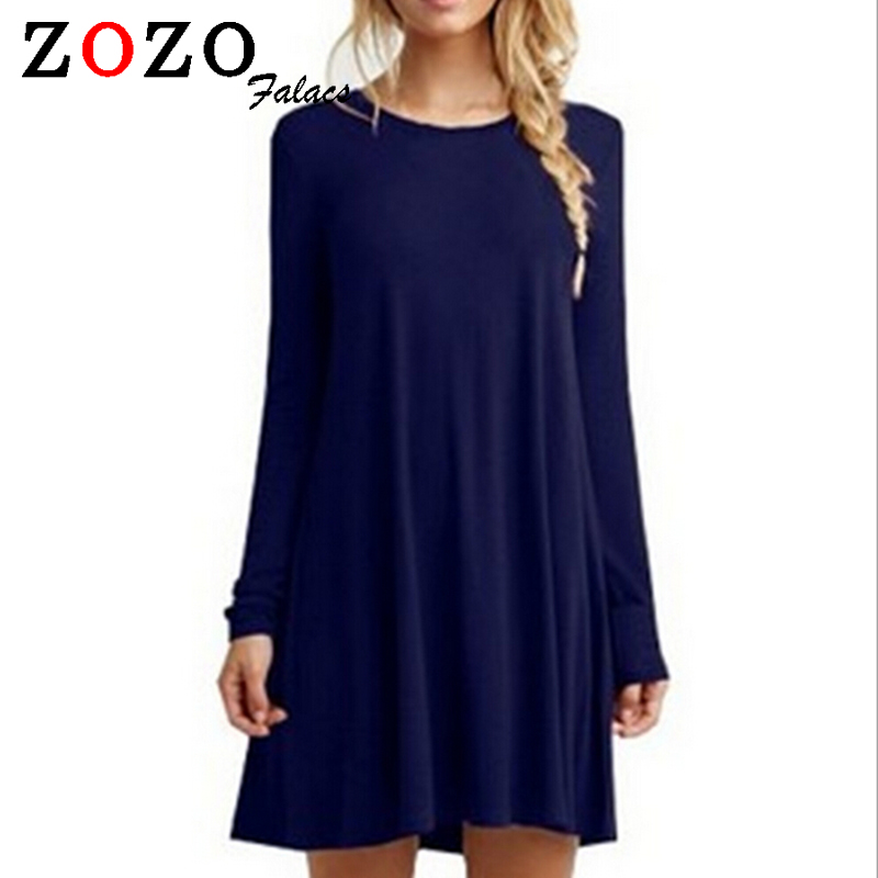 Falacs zozo 2016 Winter Women Casual Vestidos Loose Dress