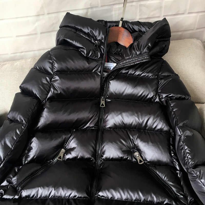 AYUNSUE/90% белый пуховик на утином пуху, женское плотное длинное зимнее пальто, женская куртка-пуховик в Корейском стиле с капюшоном, Doudoune Femme KJ727