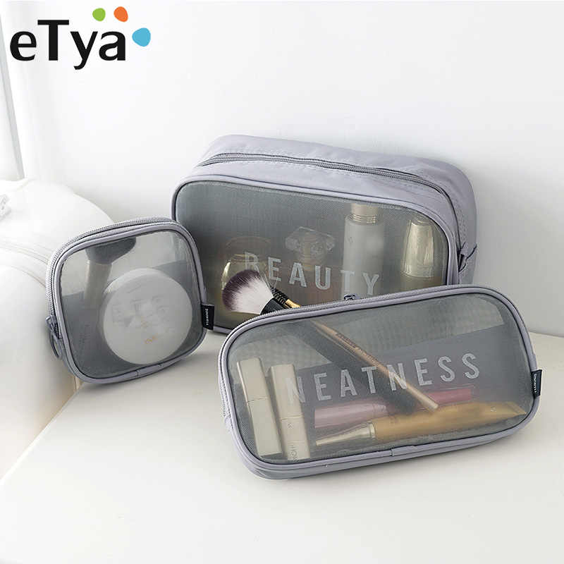 eTya Brand Women Cosmetic Bag Travel Pouch Large Capacity Wash Bags Makeup Organizer Storage Bag Fashion Cosmetics Make Up Bag