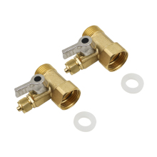 2Pcs 1/2 inch To 1/4 Brass Water Tap Ro Feed Ball Valve Faucet Filter Reverse Osmosis System For Purifier