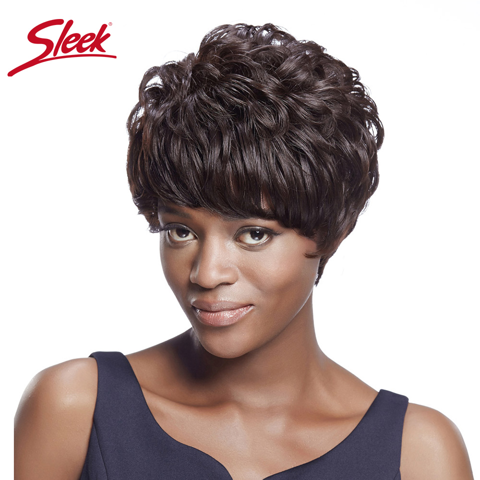 Sleek Brazilian Sassy Curly Human Hair Wigs With Bangs Cheap Curly Wavy Wig In Big Sale Remy  Perruque Cheveux Humain