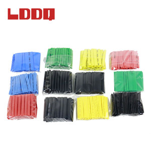 LDDQ 530pcs Heat Shrink Tube shrinkage ratio 2:1 Thermal contra Sleeve cable termoretractil pvc tubing Wrap Wire Cable Bagged