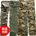 Hot Sale Male autumn winter plus size overalls loose multi-pocket Camouflage casual pants