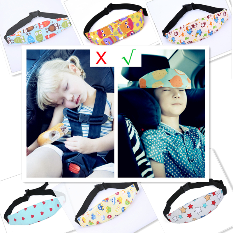 Car Safety Seat Sleep Positioner Stroller Baby Head Support Fastening Belt Adjustable Pram Strollers Accessories