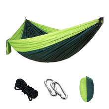 Outdoors Camping Hammock Hanging Swing Sleeping Bed Lightweight Portable Nylon Parachute Double for Backpacking Travel
