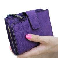 Women Mini Grind Magic Bifold Leather Wallet Card Holder Wallet Purse