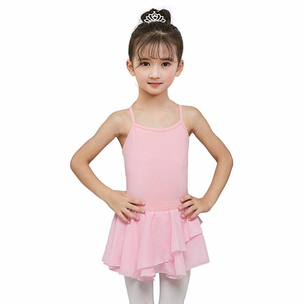 2 10y girls ballet dress gymnastics leotard long sleeve