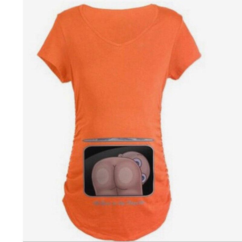 b2f0cc8fc Moda bebé fart 3D impresión embarazada maternidad camisetas mujeres Casual  ropa de embarazo para mujeres embarazadas Gravida Vestidos de algodón  Información ...