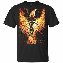 Jean Grey X-Men Dark Phoenix - Original Fan Art Color Print and Poster T-Shirt . Funny Tops Men top tee