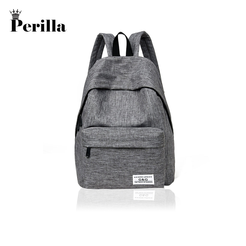 Perilla Brand Canvas Men Women Backpack College School Bags For Teenager Boy Girls Laptop Travel Backpacks Mochila Rucksacks augur canvas men women backpack college high middle school bags for teenager boy girls laptop travel backpacks mochila rucksacks