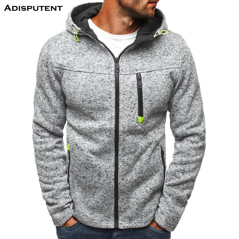 Adisputent Men's Sweatshirts Jackets Sportswear Hooded Zipper Autumn Male Winter Big-Size