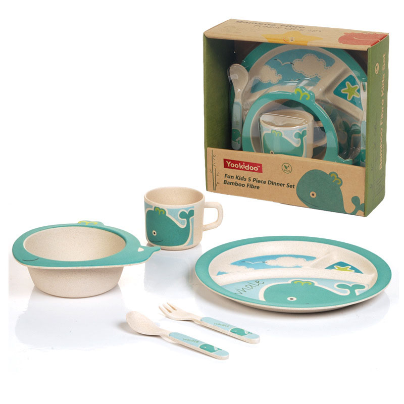 Baby dinnerware Bamboo fiber children/kids cutlery sets 100% green dinner plate / bowl / cup / spoon / fork baby feeding set-in Dishes from Mother u0026 Kids on ...  sc 1 st  AliExpress.com & Baby dinnerware Bamboo fiber children/kids cutlery sets 100% green ...