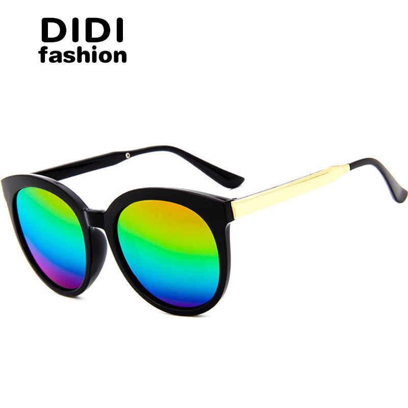 1728d43d864 DIDI 2017 Top Grace Korean Rainbow Sunglasses Women Men Rose Gold Frame  Oversized Reflective Circle Eyewear
