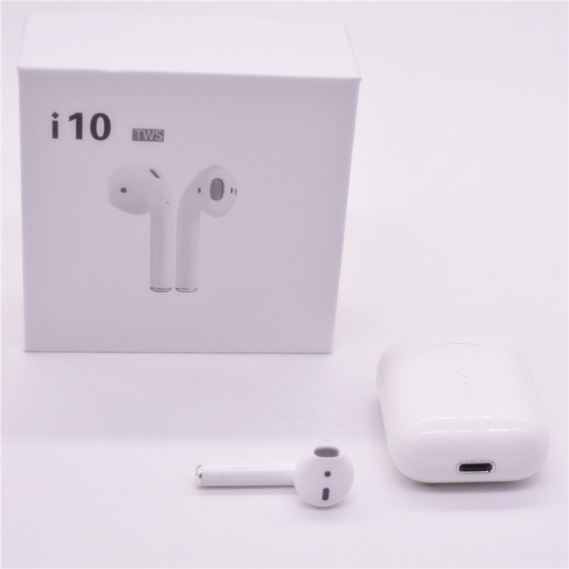 I10 tws Bluetooth Earphones Portable Wireless Bluetooth 5.0 Binaural Earbuds All Cell Phones Smart Headphones PK I7s I9s