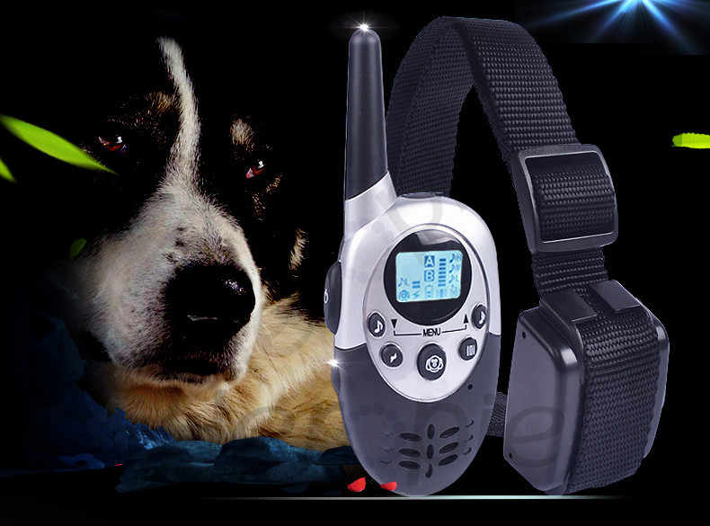 Heropie 1000メートル防水と充電式リモートコントロール犬トレーナー電気ショック液晶犬制御pet犬の訓練の襟