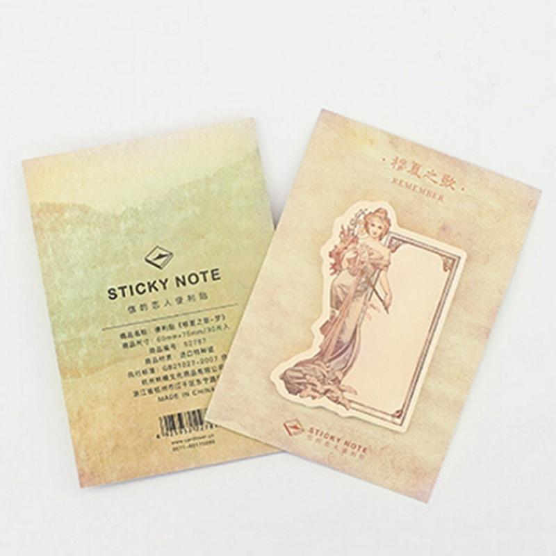 Memo Pad Korean Sticky Notes Post Supplies Planner Stickers Goddess Weekly Plan 1PCS Kawaii Retro stationery School