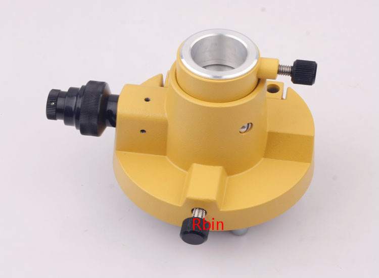THREE-JAW YELLOW TRIBRACH ADAPTER WITHOUT OPTICAL FOR TOTAL STATIONS