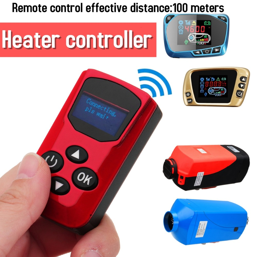 UK Air Diesel Heater LCD Monitor Remote Control Silencer Trucks Boat Car 5KW 12V
