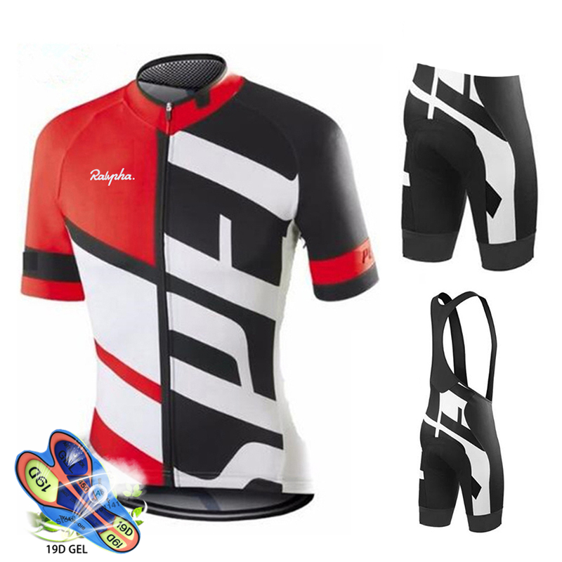 Cycling Jersey 2019 Pro Team Ralvpha Cycling Clothing MTB Cycling Bib Shorts Men Bike Jersey Set Ropa Ciclismo Triathlon