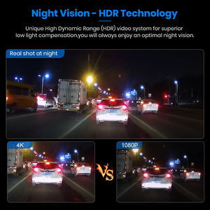 Image 4 - Junsun S590P 4K Dash Cam WiFi Voiture Dvr GPS Tracker ADAS Super HD 2880 * 2160P Vision Nocturne Dashcam 1080P Enregistreur Arrière de Caméra