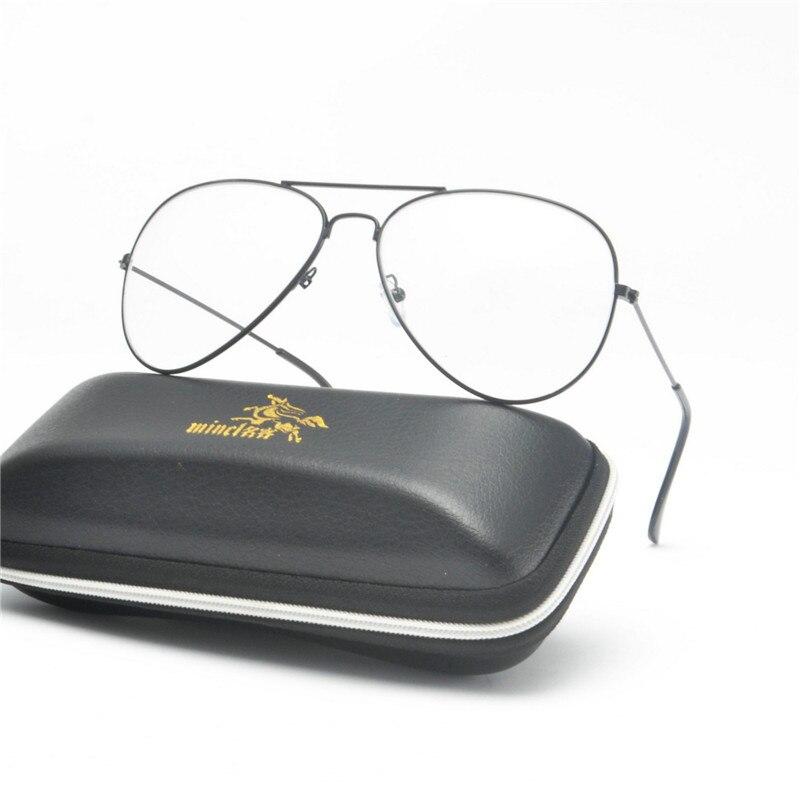 d55362def3950 2019 MINCL Fashion Retro Pilot Glasses Frame Women Men Oversized ...