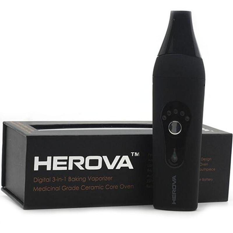 2016 New Dry Herbal Vaporizer Herova 3 in 1 Vaporizer 2200mah Dry herbal Wax Oil Vaporizer Pen Kit with Ceramic coil electronic cigarettes