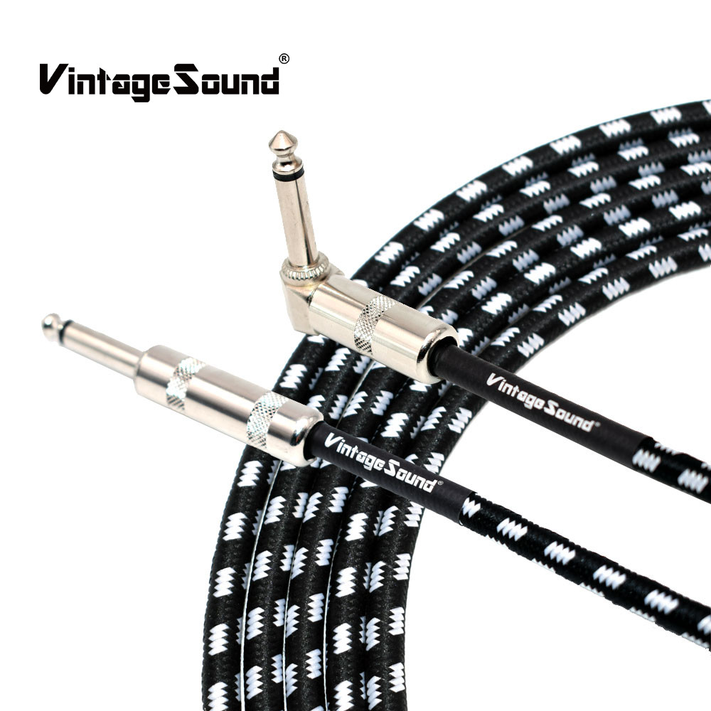 Electric Guitar Audio Cable 6m/20 Feet 3 Meters/10Feet Bass Musical Instrument Cable Jack Cord 1/4 Inch Straight to Angle Plug стоимость