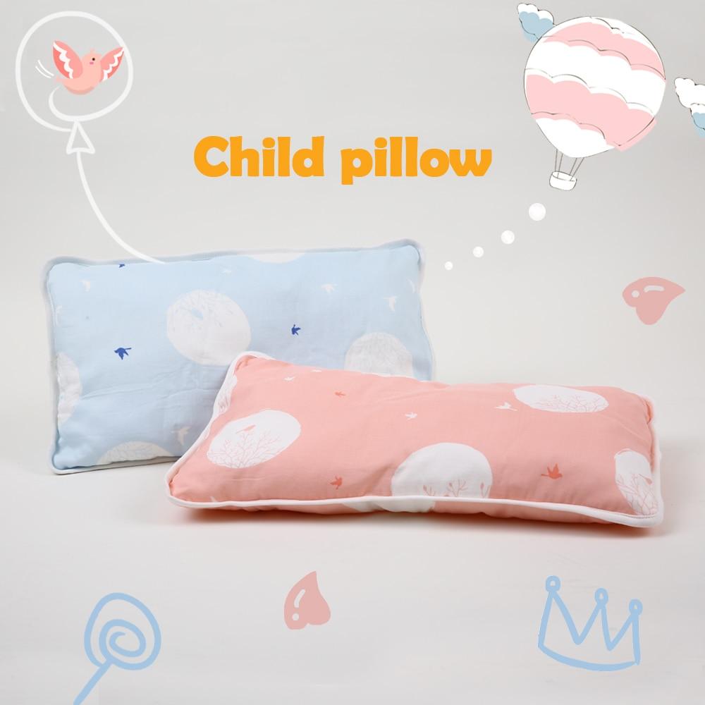 I-baby Muslin Nursery Pillow Baby Bedding Newborn Pillow Infant Baby Neck Pillow Animal Design 100% Cotton Cot Pillow 30x50cm