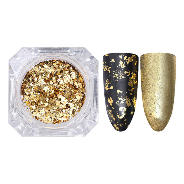Silver Gold Flakes Nail Sequins Decoration