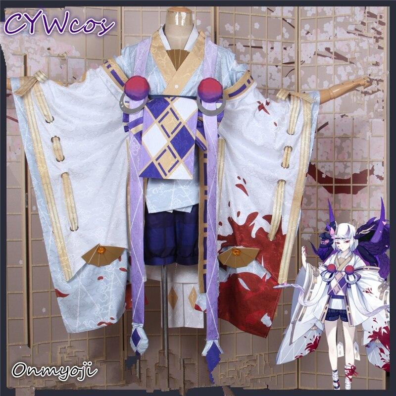 Onmyoji jeu SR alésage peau neuve coeur sang coloration Cosplay Costume japonais Kimono tenues ensembles Kimono + short + chaussettes