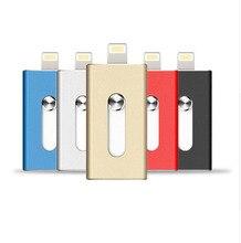 BASEQI USB flash drive for iphone 6/6 plus/5/5S ipad metal pen drive hd memory stick dual lens mobile otg micro 32G/ 64GB