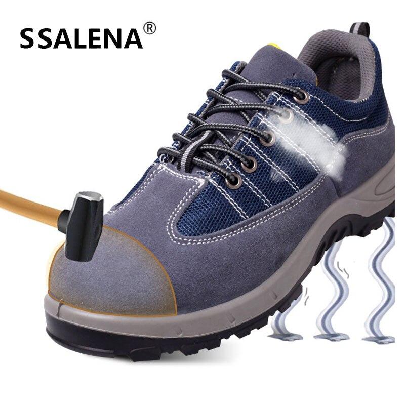 Macho Protecção Punção À Respirável Segurança Patchwork Seguro Aa51612 Azul Botas Calçado Boots Homens De Aço Biqueira Ankle Prova Trabalho xwpS0YHq