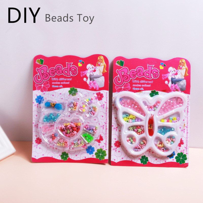 DIY Handmade Beads Toy Children Educational Toy Creative Arts And Crafts For Girls Bracelets Jewelry Bead Kits Toy Gift Random