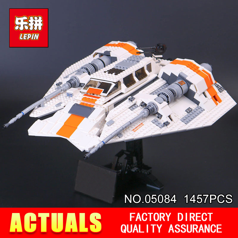 Lepin 05084 Star 1457Pcs Series Wars the Snowspeeder Set Self-Lock Building Blocks Bricks Educational Boy Toys Model Gifts 10129 star space war series the rebel snowspeeder set educational building blocks bricks boy toys model gifts compatible lepins 10129